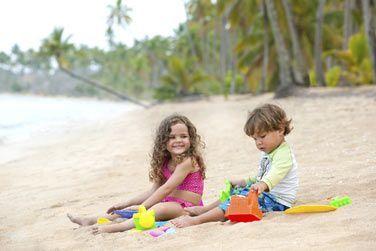 Vos enfants pourront s'amuser en toute quiétude à la plage