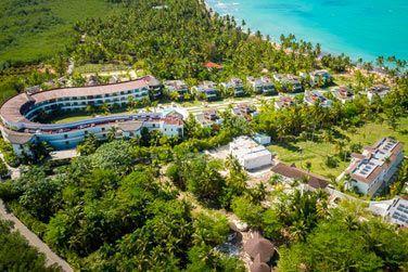 La vue aérienne de l'hôtel