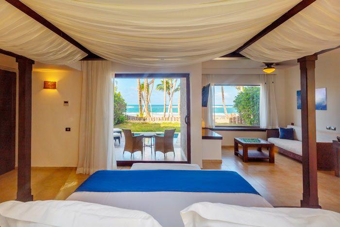 suite junior luxury front de mer avec piscine privée