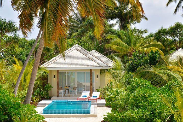 villa plage piscine avec bain à remous