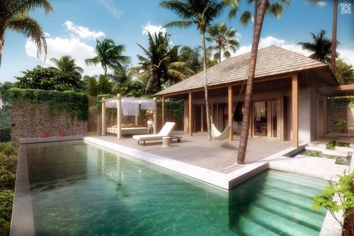villa luxury front de mer 3 chambres
