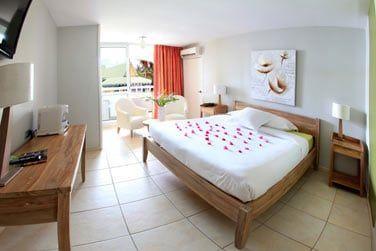 Certaines chambres offrent une vue sur le jardin de l'hôtel