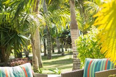 Des espaces détente sont aménagés au coeur des jardins tropicaux