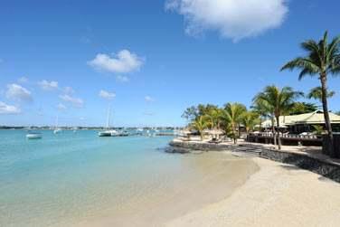 La petite plage de l'hôtel Veranda Grand Baie Hotel & Spa