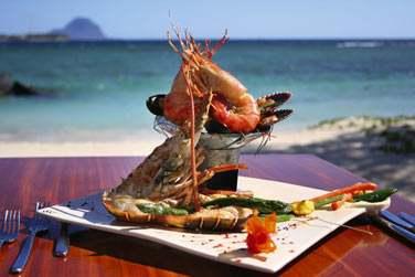 Plat de crustacés et fruits de mer au restaurant PinkPepperCorn à deux pas de la mer