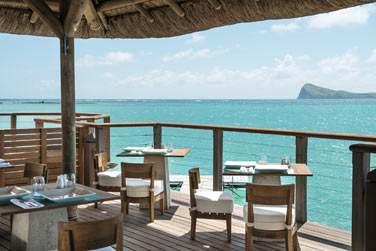 La terrasse du restaurant Indigo et sa vue magnifique dont on ne se lasse pas