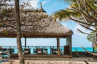 Le restaurant Indigo à l'emplacement exceptionnel face à l'océan Indien et aux îles du nord