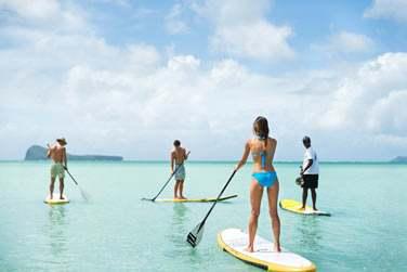Vous pourrez pratiquer le Stand Up Paddle dans le lagon