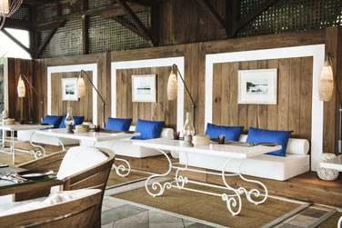 Le Restaurant XO et sa jolie décoration aux couleurs claires et lumineuses