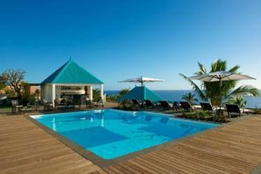 L'hôtel offre une vue panoramique magnifique sur la baie de Saint-Leu et l'Océan Indien