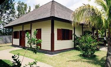 Vue extérieure d'un bungalow