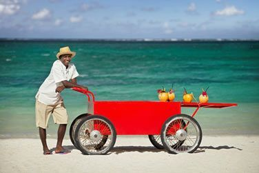 ... assuré par Coco et sa roulotte de plage !
