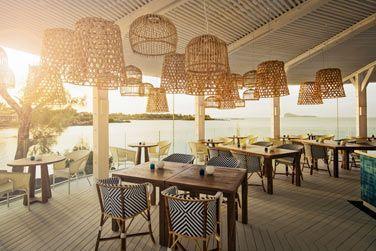 Le restaurant Bodrum Blue au choucher du soleil