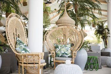 Terrasse du restaurant Palm Court
