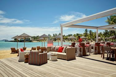 La terrasse du restaurant avec vue sur la mer