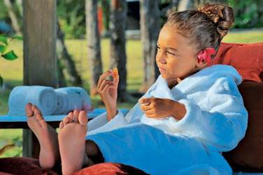 Les petites filles aussi pourront se faire chouchouter en même temps que leur maman