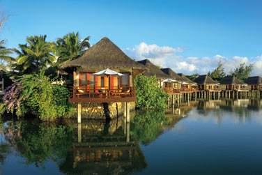 L'hôtel a la particularité de posséder de Suites et Villas sur pilotis !