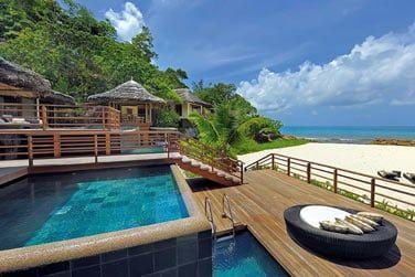 L'accès direct à la plage privée