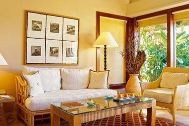 Intérieur de la Villa de luxe avec jardin