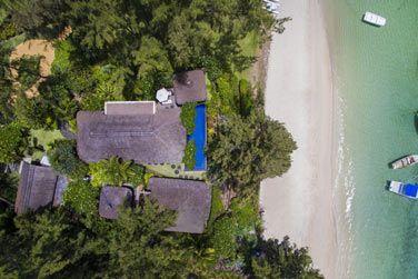 La vue aérienne de la Villa Présidentielle