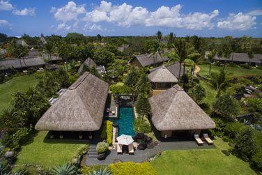 La vue aérienne de la Villa Royale