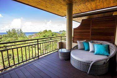 La superbe vue sur l'océan depuis votre balcon