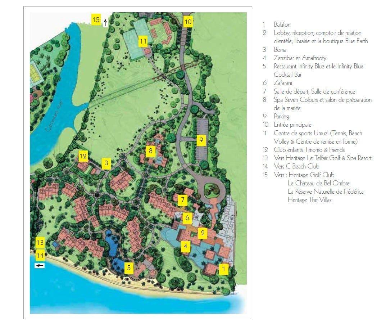 situation g ographique h tel heritage awali golf spa resort ile maurice. Black Bedroom Furniture Sets. Home Design Ideas