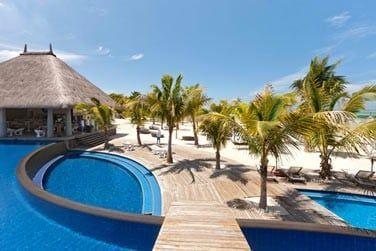 Le Club de plage du Domaine de Bel Ombre possède de grandes piscines !
