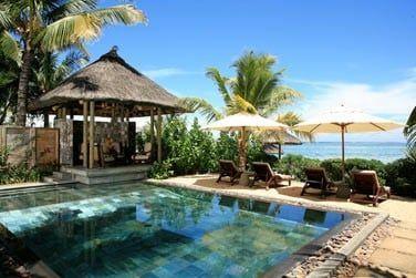 La piscine privée de la villa
