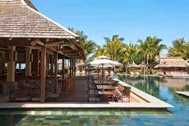Le restaurant Amafrooty situé au bord de la piscine