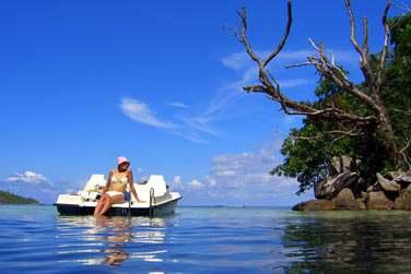 et l'océan Indien, avec, en prime, les exceptionnels couchers de soleil seychellois.
