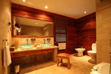 Salle de bains de la Villa Hillside