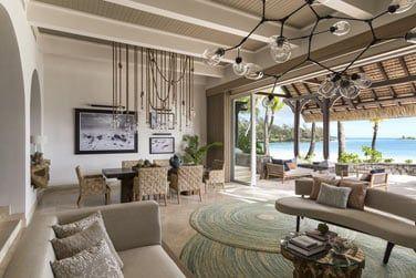 Salon ouvert de la Suite Shangri-La