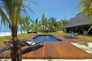 Terrasse et piscine privées de la Villa, face à la mer !