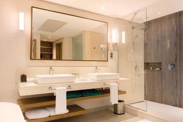 Salle de bain de la chambre Tropicale front de mer