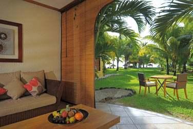 La terrasse de la chambre Tropicale front de mer