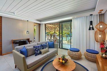 Salon de la Suite Famille océan front de mer