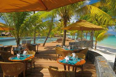 La terrasse du restaurant de plage 'Le Deck'