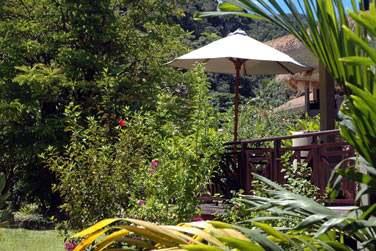 L'hôtel possède 45 villas réparties dans les jardins ou à flanc de colline