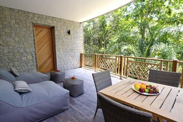 La terrasse et sa vue sur les jardins