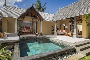 La piscine privée de la Luxury Suite Villa