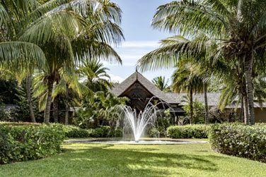 Le jardin tropical et son atmosphère reposante...