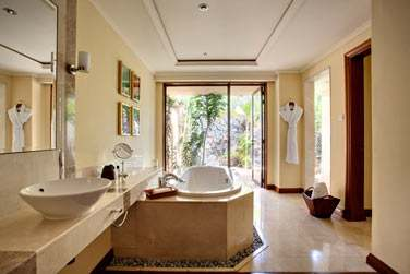 Salle de bain de la Luxury Suite Villa