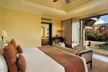 Intérieur chambre de la Luxury Suite Villa