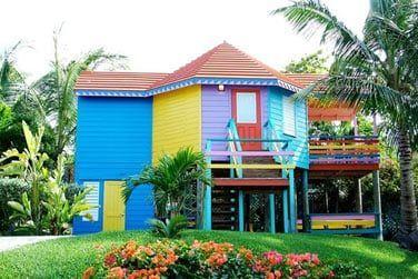 Extérieur d'un bungalow