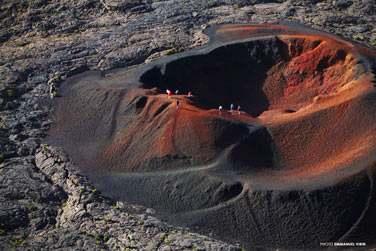 La découverte du volcan ..
