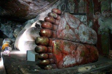 Les statues des grottes de Dambulla sont très bien conservées