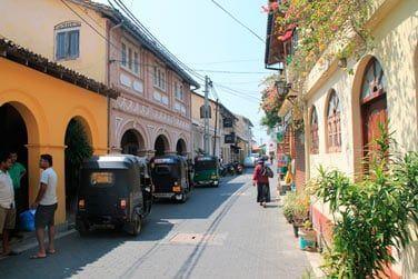 Vous pourrez vous promener dans les petites rues très agréables de Galle