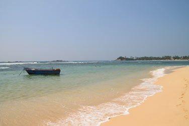 La plage d'Unawatuna est superbe